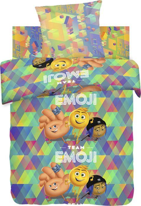 Комплект детского белья Emoji Movie Команда Эмоджи, 1,5-спальный, наволочка 70х70 непоседа непоседа детское постельное белье 1 5 спальное emoji movie эмоджи стайл