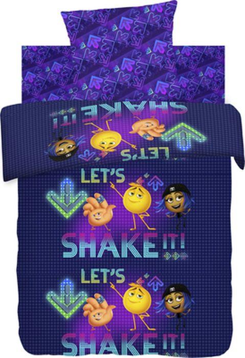 Комплект детского постельного белья Emoji Movie Вечеринка, 1,5-спальный, наволочка 70х70431566