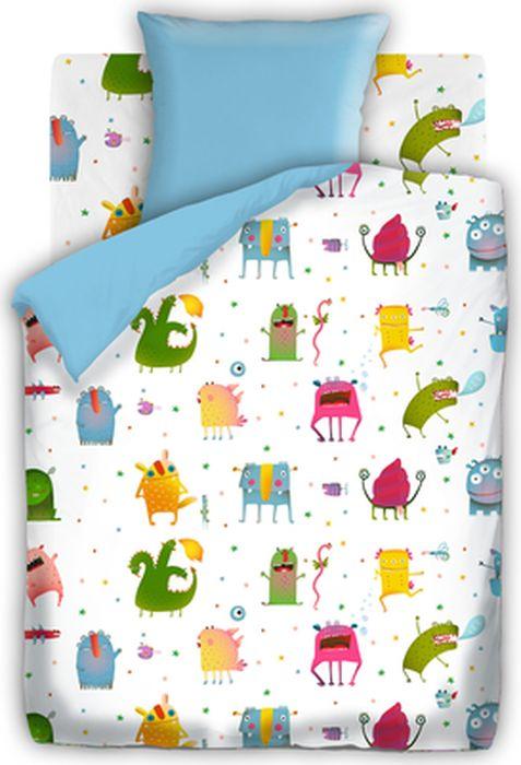 Комплект детского постельного белья Непоседа Монстрики, 1,5-спальный, наволочка 70х70431723