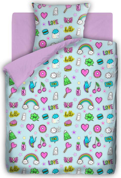 Комплект детского постельного белья For You Аппликации, 1,5-спальный, наволочка 70х70431735