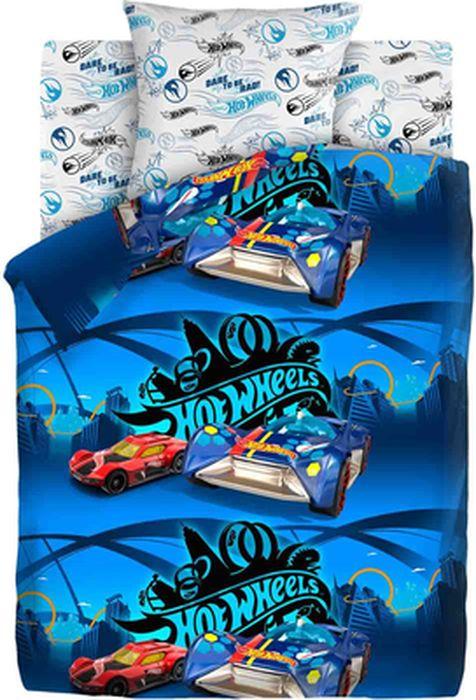 Комплект детского постельного белья Hot Wheels Найт Сити, 1,5-спальный, наволочка 70х70