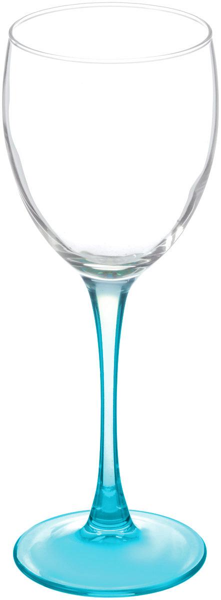 Бокал для вина Luminarc Эталон, цвет: прозрачный, бирюзовый, 250 млL2819_прозрачный, бирюзовыйБокал для вина Luminarc Эталон необходим для любой хозяйки, сочетает в себе отличное качество и дизайн. Изделие выполнено из высококачественного стекла. Такой бокал украсит любой кухонный интерьер и станет хорошим подарком для ваших близких.Диаметр бокала (по верхнему краю): 7 см. Высота бокала: 19,5 см.