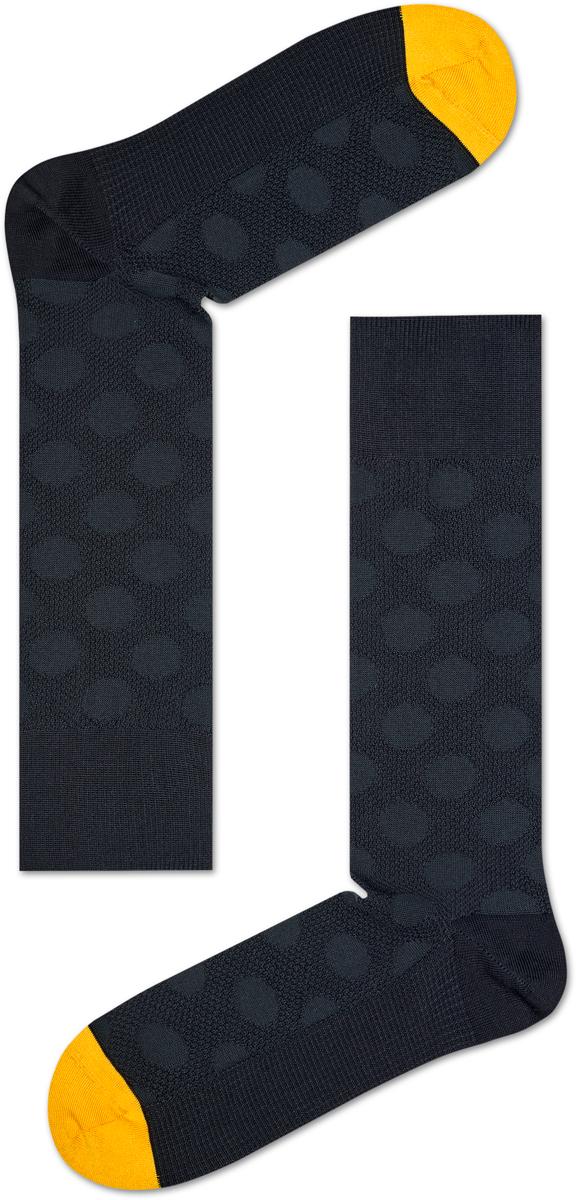 Носки мужские Happy socks, цвет: черный, желтый. BDO34. Размер 27BDO34Носки Happy Socks, изготовленные из высококачественного материала, дополнены ажурной вязкой. Эластичная резинка плотно облегает ногу, не сдавливая ее. Усиленная пятка и мысок обеспечивают надежность и долговечность.