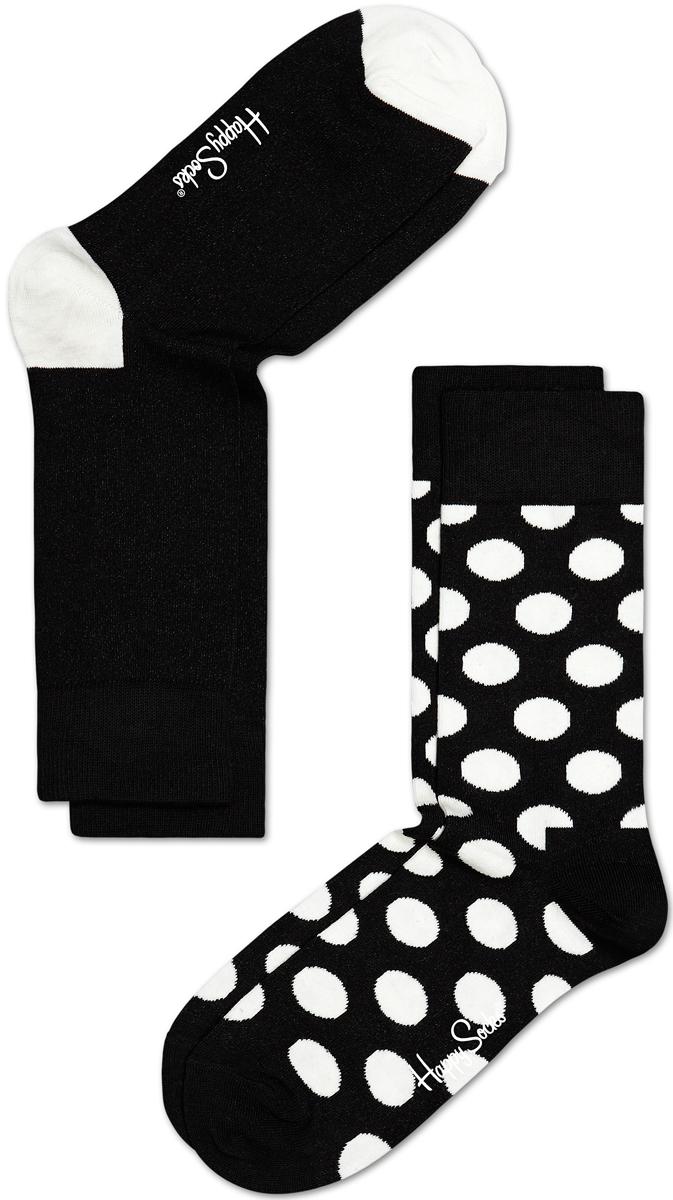 Комплект носков Happy socks, цвет: черный, белый. BD02. Размер 29BD02Носки Happy Socks, изготовленные из высококачественного материала, дополнены принтом. Эластичная резинка плотно облегает ногу, не сдавливая ее. Усиленная пятка и мысок обеспечивают надежность и долговечность. В комплект входит две пары носков.