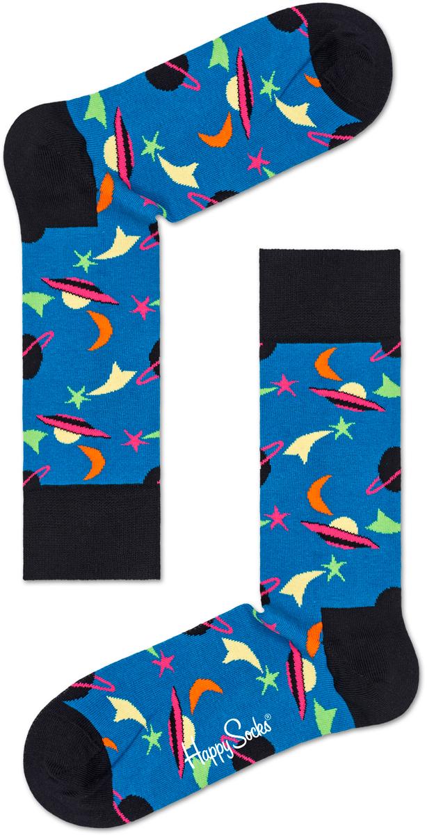 Носки женские Happy socks, цвет: синий, черный. SPA01. Размер 29SPA01Носки Happy Socks, изготовленные из высококачественного материала, дополнены принтом. Эластичная резинка плотно облегает ногу, не сдавливая ее. Усиленная пятка и мысок обеспечивают надежность и долговечность.
