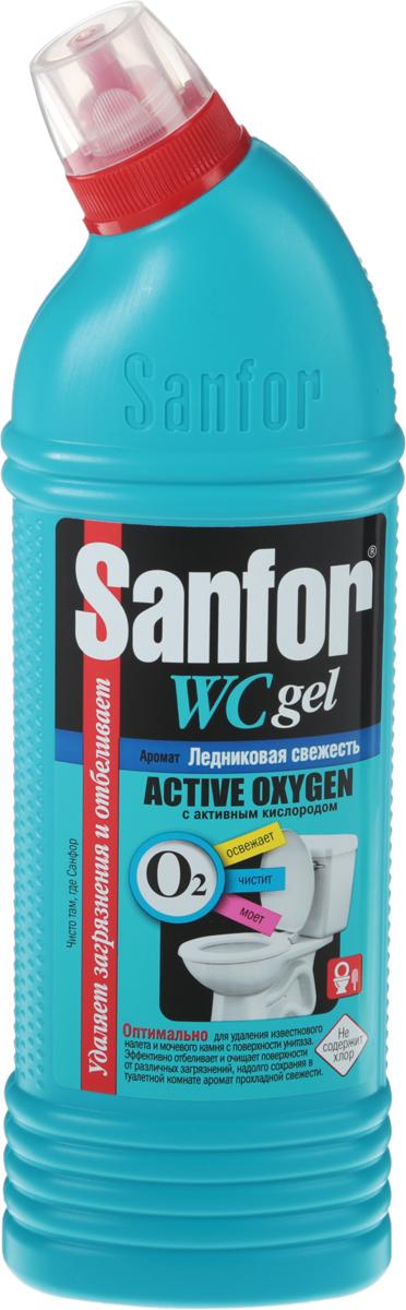 """Средство Sanfor """"Aсtive Oxygen"""" с активным кислородом мгновенно удаляет застарелые пятна ржавчины, известковый   налет, мочевой камень и грязь с поверхности унитазов. Убивает 99,9% микробов и уничтожает   неприятные запахи.  Товар сертифицирован.    Как выбрать качественную бытовую химию, безопасную для природы и людей. Статья OZON Гид"""