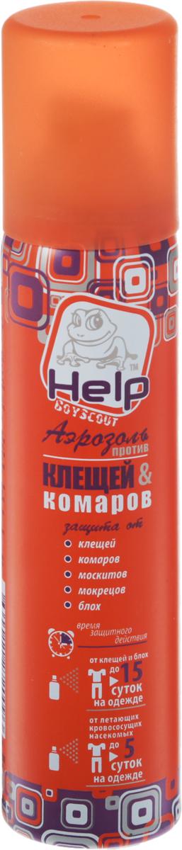 Средство от клещей и комаров Help, аэрозоль, 75 мл средство защиты от комаров mosquitoff скат12 hcx 986