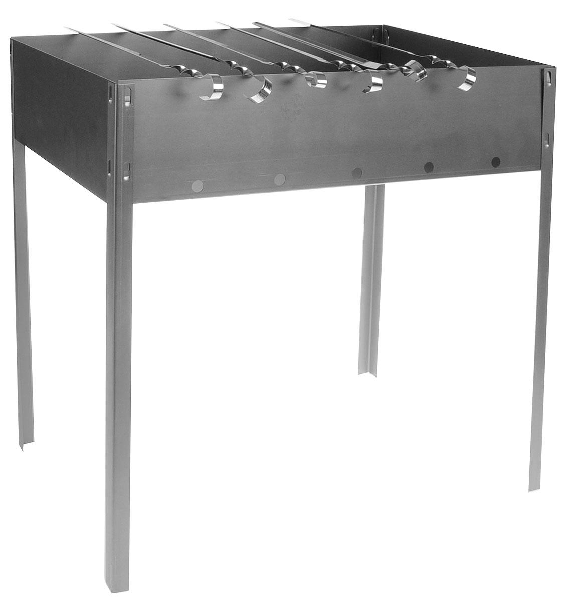 Мангал Бастион-Пром  Стандарт , складной, с 6 шампурами, 48 х 29 х 48 см - Посуда для приготовления