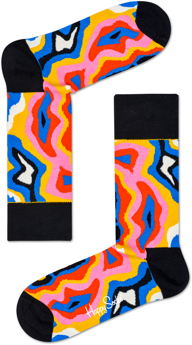Носки женские Happy socks, цвет: мультиколор. MRI01. Размер 29MRI01Носки Happy Socks, изготовленные из высококачественного материала, дополнены принтом. Эластичная резинка плотно облегает ногу, не сдавливая ее. Усиленная пятка и мысок обеспечивают надежность и долговечность.