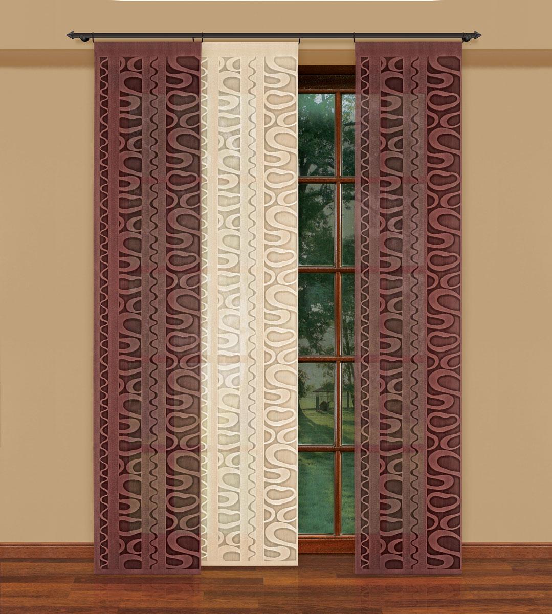 Гардина-панно Haft, цвет: кремовый, высота 250 см. 207350/50