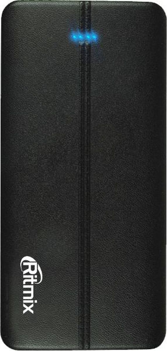 Ritmix RPB-6007P, Black внешний аккумулятор (6000 мАч)15118758Power bank Li-Polymer дизайн под кожу тонкий 15мм, ёмкость 6000мАч выход 2xUSB 5В 2,1А, фонарик + световой индикатор заряда, размер 142*70*15, цвет: чёрный поверхность под кожу тонкии борт цвет серебро