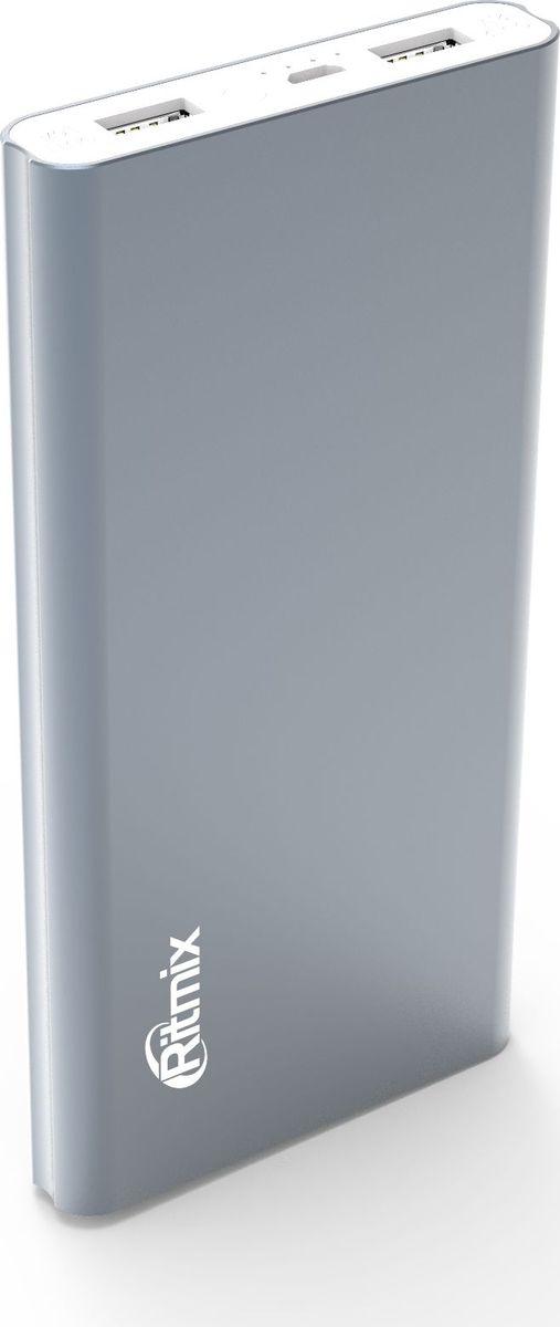 Ritmix RPB-12077P, Grey внешний аккумулятор (12000 мАч) ritmix rpb 12077p silver внешний аккумулятор 12000 мач