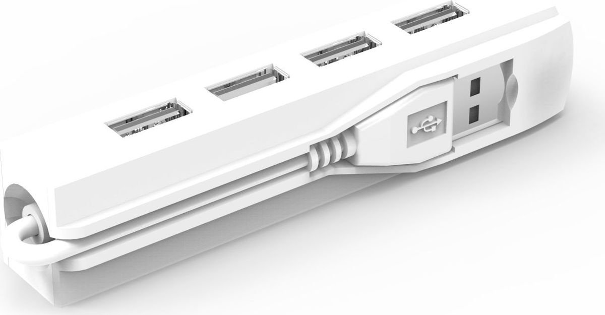 Ritmix CR-2406, White USB-концентратор usb 2 0 high speed 10 port hub white