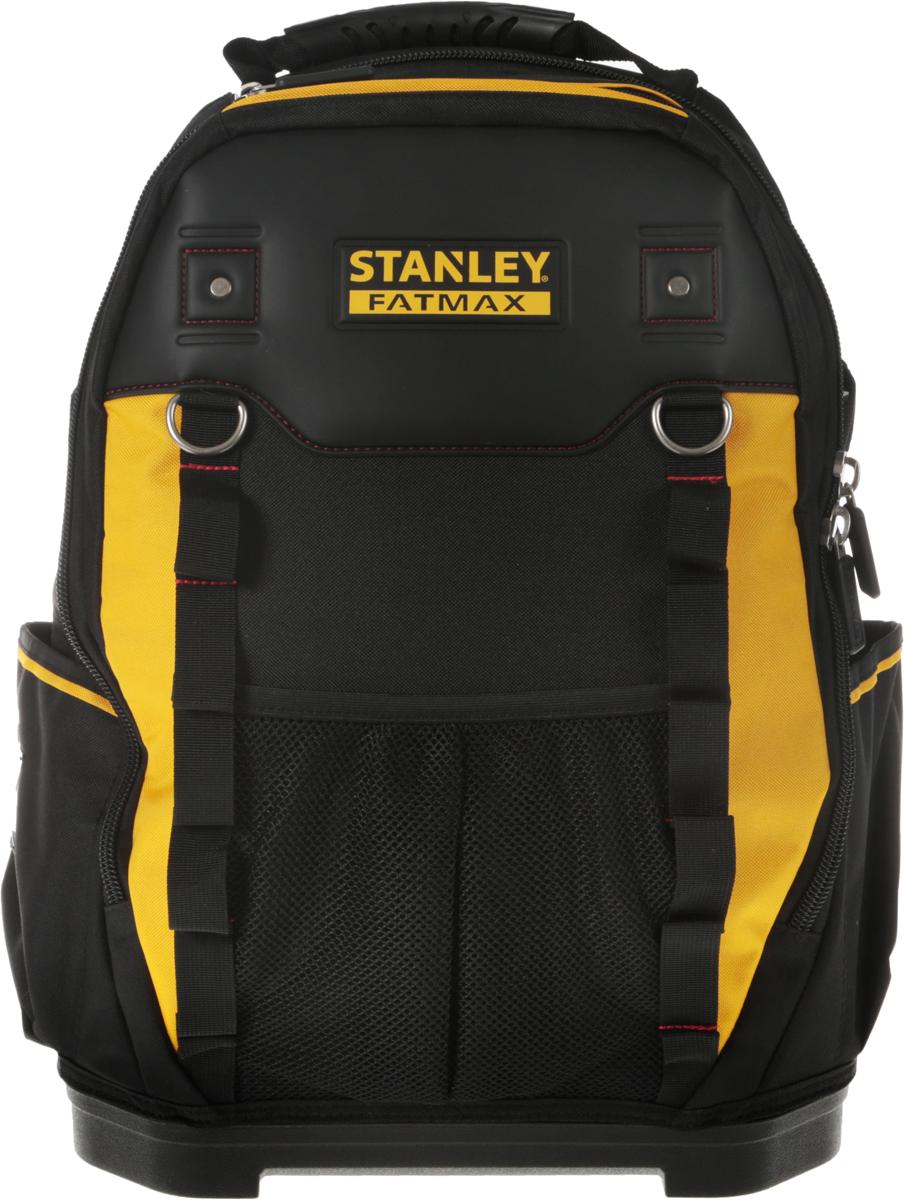 Рюкзак для инструмента Stanley Fatmax, цвет: черный, желтый1-95-611_черный, желтыйРюкзак Stanley Fatmax служит для хранения и транспортировки различного инструмента. Изготовлен из высококачественного материала и отличается хорошими прочностными характеристиками. Имеет несколько отделений и 50 различных карманов, где удобно размещаются все необходимые инструменты и аксессуары. Рюкзак легко и удобно носить с помощью ручки или на плечах.Вместительный и функциональный рюкзак - это отличный помощник для профессионала или домашнего мастера, позволяет аккуратно и компактно расположить инструменты и личные вещи, чтобы всегда держать их под рукой и не тратить время на поиски нужного предмета.Застегивается на застежку-молнию с двумя замками для быстрого доступа с любой стороны. Жесткая форма и пластмассовое дно изделия позволяют удерживать вертикальное положение.Имеется отдельная секция для ноутбука.Размер рюкзака: 36 x 46 x 27 см.
