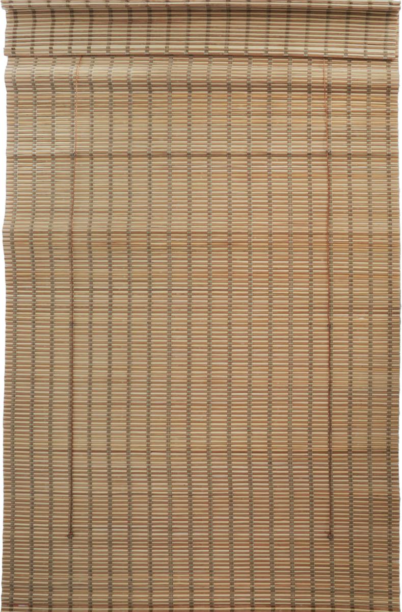 """Римская штора Эскар """"Бамбук"""", цвет: микс, ширина 100 см, высота 160 см"""