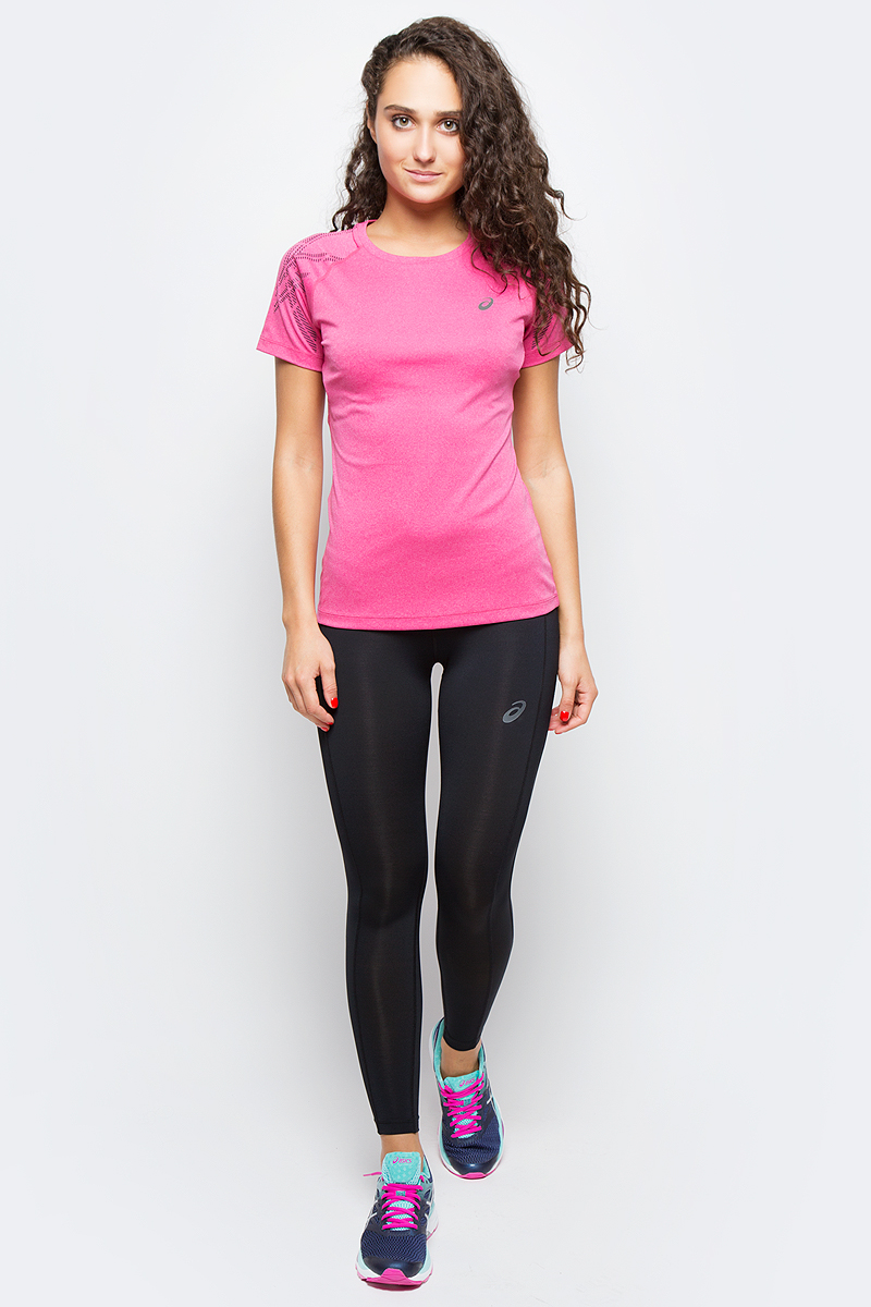 Футболка для бега женская Asics Stripe SS Top, цвет: розовый. 141224-0699. Размер XL (50/52)141224-0699Футболка Asics предназначена специально для бега. Эта легкая беговая футболка обеспечит вам безупречный комфорт и достижение высоких спортивных результатов благодаря мягкой, эластичной ткани, которая отводит влагу и поддерживает тело сухим. Плоские швы не натирают кожу и обеспечивают полный комфорт. Фасон рукавов-реглан элегантен и создает свободу движений. Футболка декорирована логотипом. Максимальный комфорт и уникальный спортивный образ!