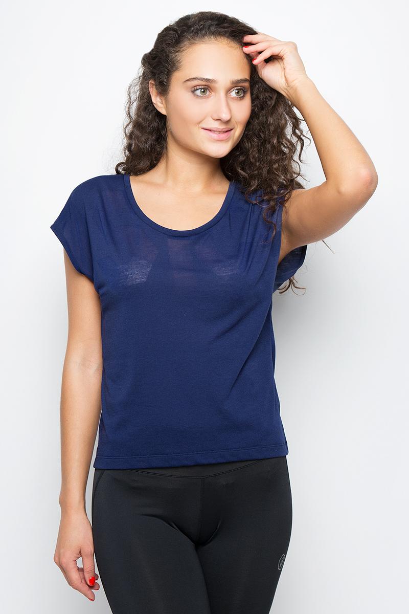 Футболка для фитнеса женская Asics SS Tee, цвет: синий. 149103-8052. Размер L (48/50) футболка asics футболка layering top