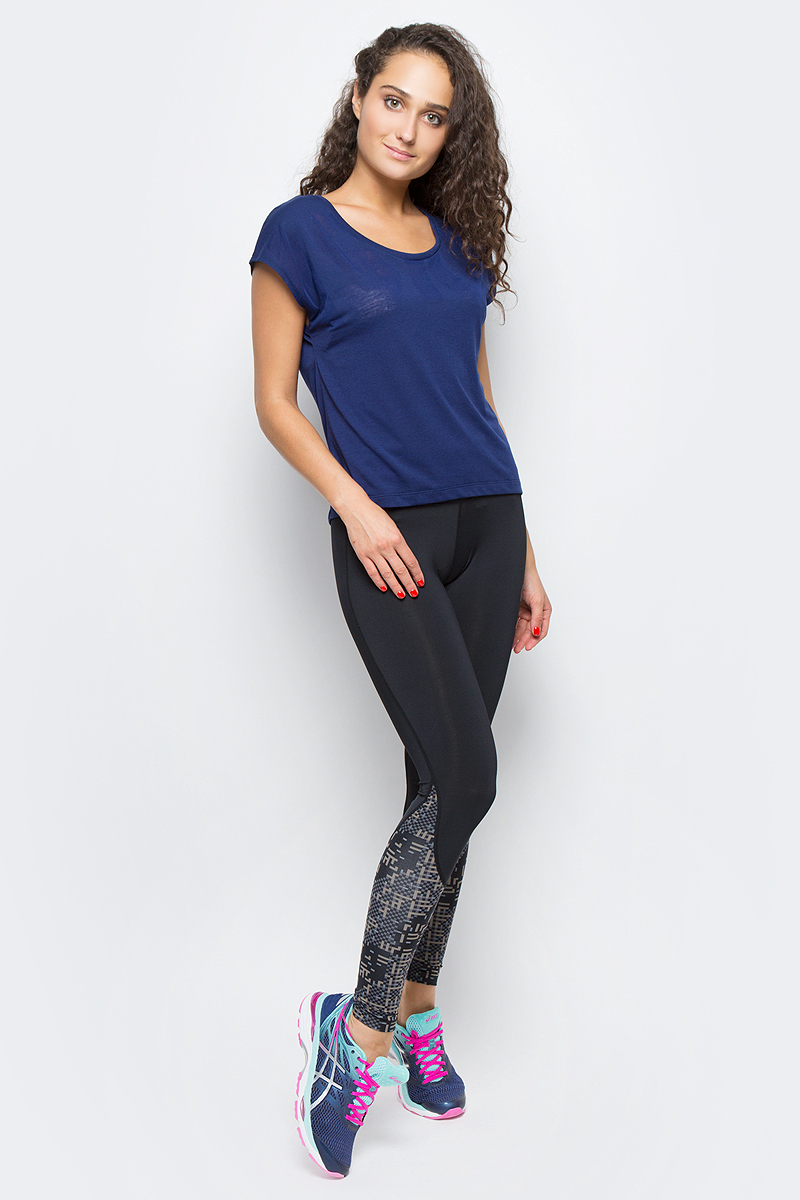 Футболка для фитнеса женская Asics SS Tee, цвет: синий. 149103-8052. Размер L (48/50) футболка asics футболка ss layering top