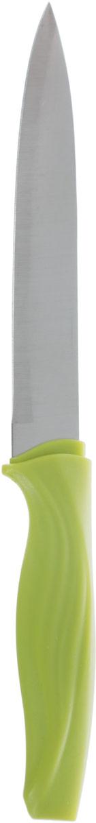 Нож универсальный Доляна Оберон, цвет: салатовый, серый, длина лезвия 12,5 см1702348_салатовыйУниверсальный нож Доляна Оберон предназначен для нарезки различных продуктов. Изделие выполнено из высококачественной стали. Благодаря уникальной формуле стали и качеству ее обработки, лезвие имеет высокий показатель твердости, что позволяет ему долго сохранять острую заточку. Нож Доляна Оберон идеально шинкует, нарезает и измельчает продукты. Он займет достойное место среди аксессуаров на вашей кухне. Общая длина ножа: 23,5 см.