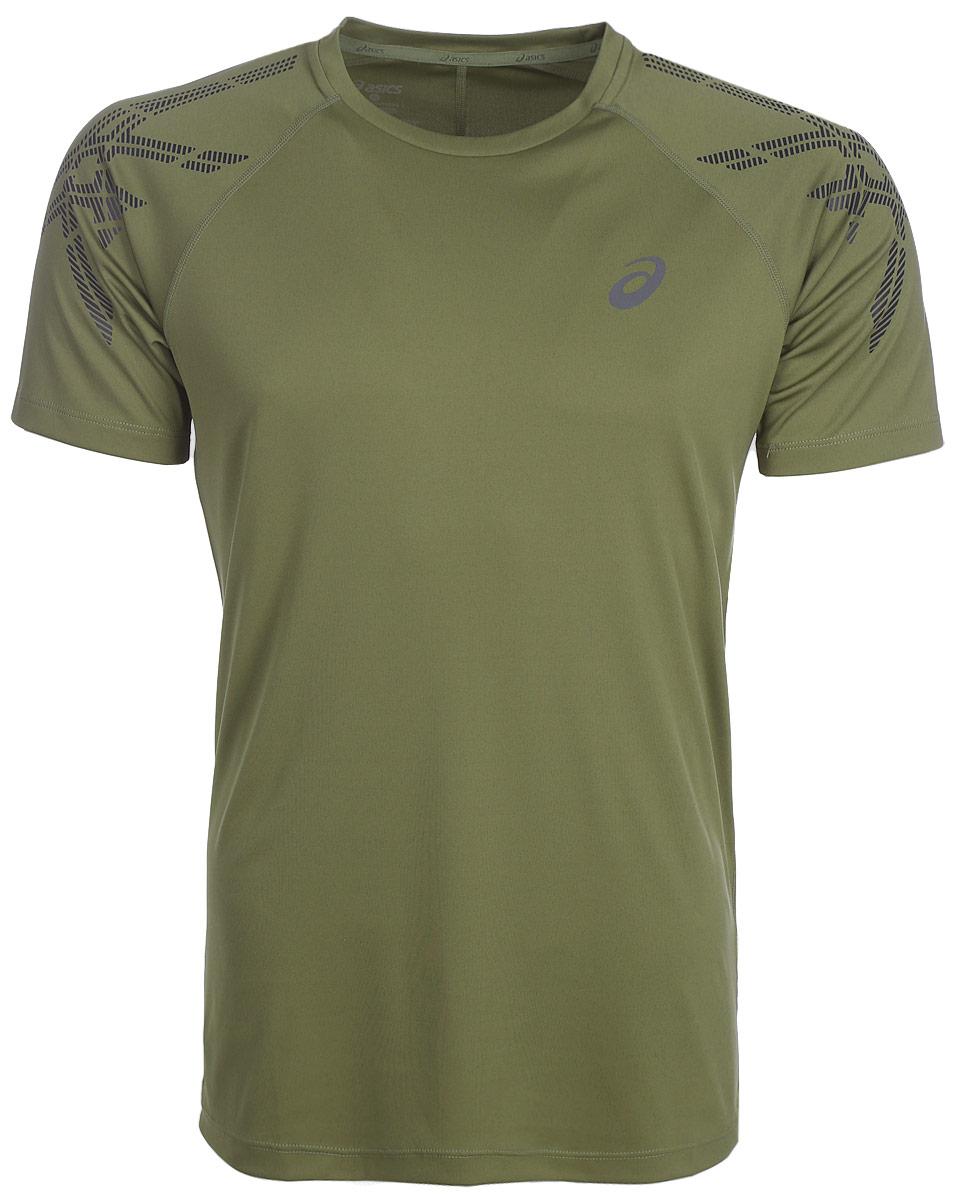 Футболка для бега мужская Asics Asics Stripe SS Top, цвет: хаки. 141199-4030. Размер XXL (56) футболка asics футболка styled top