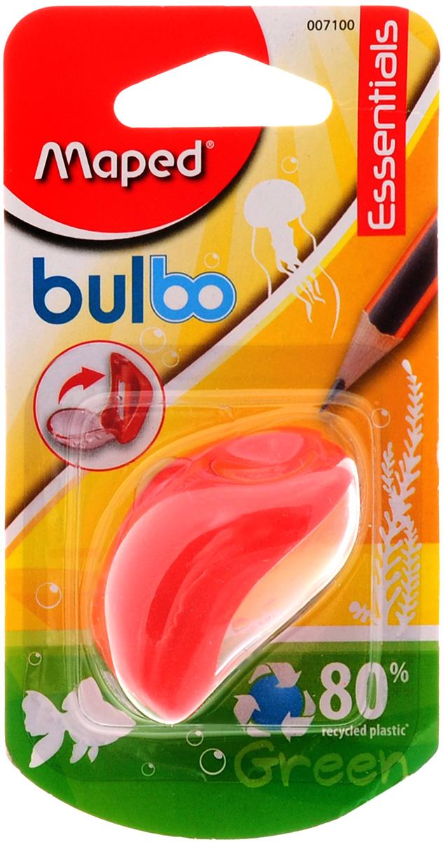 Maped Точилка Bulbo с контейнером цвет красный точилка maped croc croc 1 отверстие с контейнером
