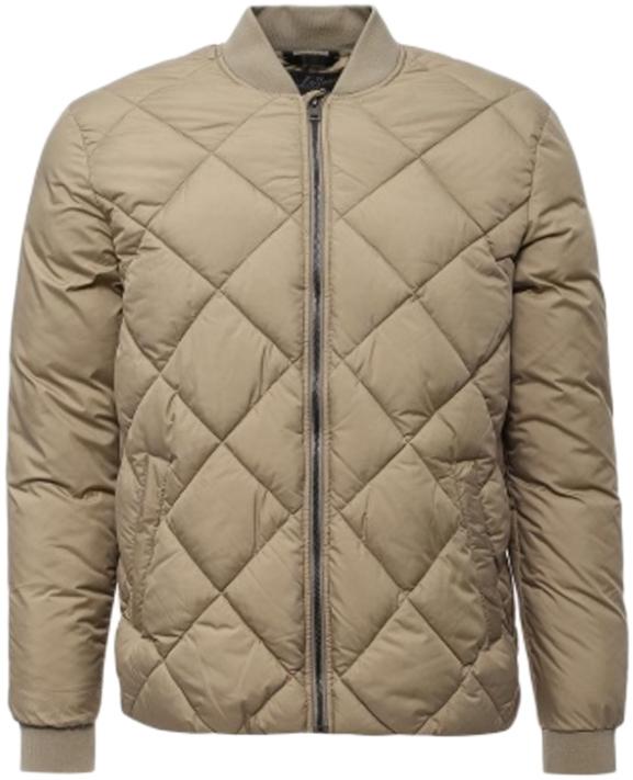 Куртка мужская Jack & Jones, цвет: бежевый. 12124479_Brindle. Размер M (46/48)12124479_BrindleМужская стеганная куртка Jack & Jones выполнена из высококачественного материала. Модель застегивается на застежку-молнию. Рукава дополнены трикотажными манжетами. Куртка оформлена двумя боковыми карманами.