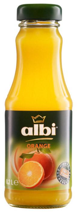 ALBI сок апельсиновый 100%, 0,2 л4003240470004Компания Albi - известный производитель соков из Германии, крупнейшая семейная фирма, на родине входящая в тройку лидеров продаж. Основой успеха фирмы Albi стали высокое качество сырья и технология изготовления со сбережением полезных свойств плодов. Изготавливается продукция Albi из местного сырья нового урожая. Благодаря усовершенствованной системе контроля, отбираются только спелые и здоровые фрукты и овощи. Плоды поступают на переработку напрямую из сада, поэтому продукция Albi сохраняет все витамины и минералы отборных плодов. Благодаря использованию современной технологии продукция Albi не содержит сахара, консервантов и красителей, что подтвердит любое лабораторное независимое исследование. Оригинальные и классические фруктовые, овощные соки, нектары и фруктовые напитки представляют широкий ассортимент продукции Albi.