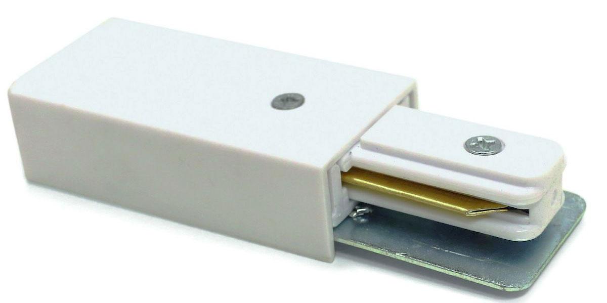 Коннектор-токоподвод для шинопровода Arte Lamp Track Accessories. A160033A160033Коннектор-токоподвод для шинопровода Arte Lamp Track Accessories - аксессуар для подводки питания к шине из дополнительных мест. Например, при использовании Т коннектора, шины, и данного коннектора, возможно питание шины из центра, а не с одного из краев шины.Коннектор изготовлен из прочного пластика.