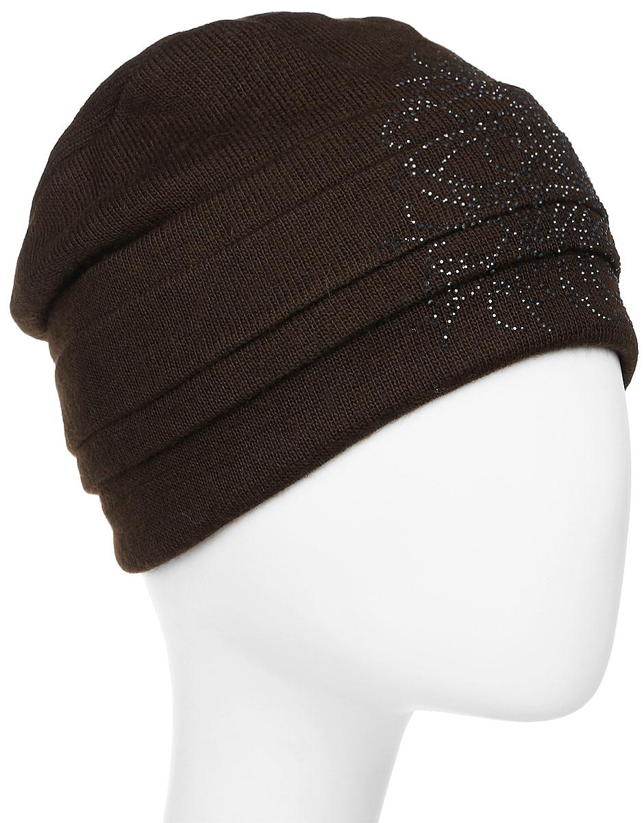Шапка женская Level Pro Вальс 2, цвет: коричневый. 995931. Размер 56/58995931Яркий и стильный головной убор не только станет прекрасным дополнением Вашего образа, но и согреет в холода. Оттенок и детали изделия могут отличаться от фотографии.