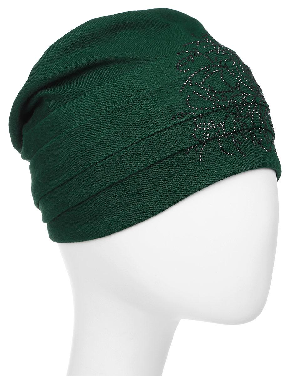 Шапка женская Level Pro Вальс 2, цвет: зеленый. 404550. Размер 56/58404550Яркий и стильный головной убор не только станет прекрасным дополнением Вашего образа, но и согреет в холода. Оттенок и детали изделия могут отличаться от фотографии.