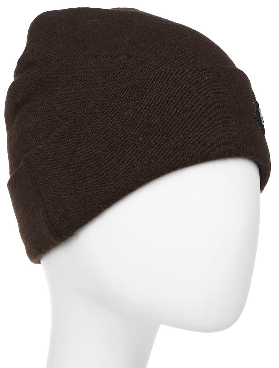 Шапка женская Level Pro Шеврон, цвет: темно-коричневый. 999347. Размер 56/58 шапки mialt шапка