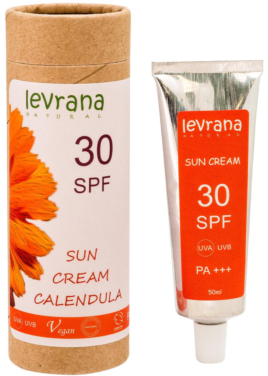 Levrana Солнцезащитный крем для тела Календула 30SPF, 50 мл - Косметика по уходу за кожей
