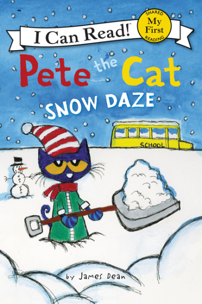 Pete the Cat: Snow Daze a cat a hat and a piece of string