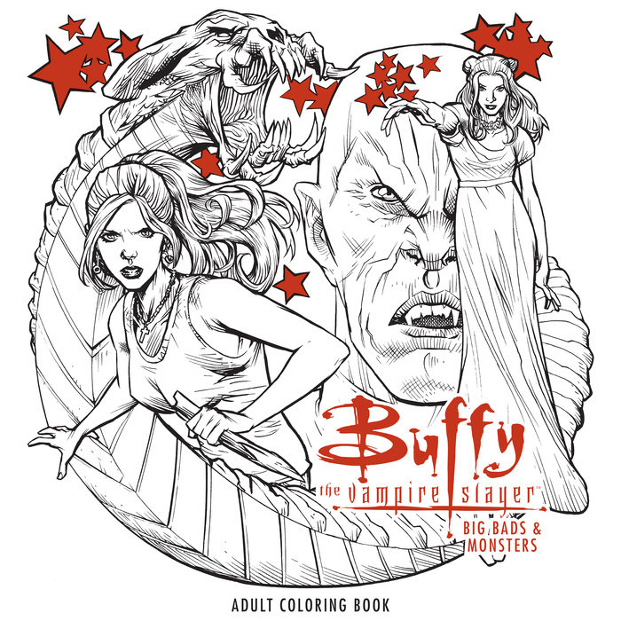 Buffy the Vampire Slayer: Big Bads & Monsters Adult Coloring Book skull the slayer
