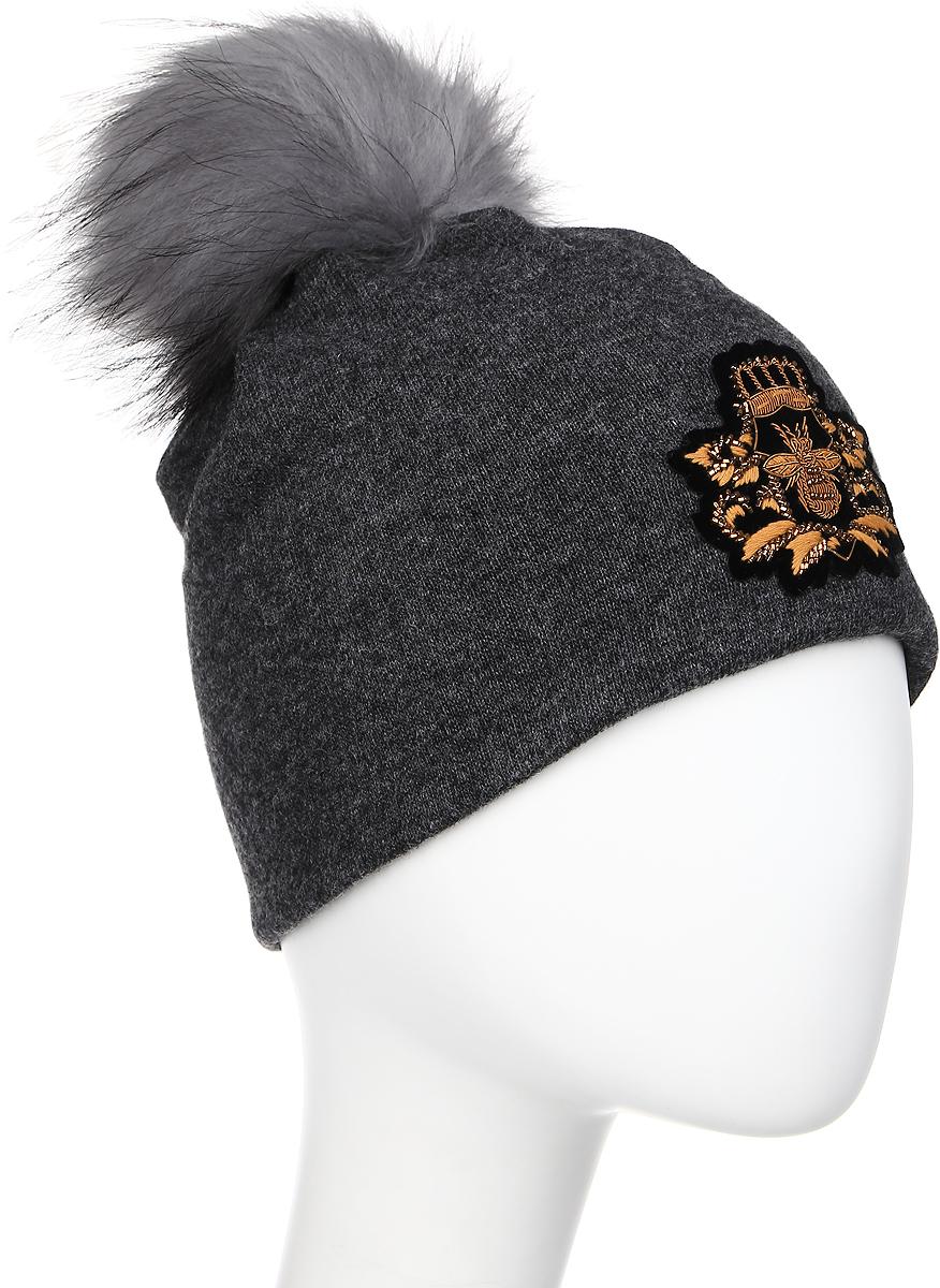 Шапка женская Level Pro Шеврон, цвет: темно-серый меланж. 402935. Размер 56/58402935Женская шапка Level Pro Шеврон отлично дополнит ваш образ в холодную погоду. Модель выполнена из высококачественной пряжи. Для комфорта и тепла внутри шапки предусмотрена мягкая флисовая подкладка. Шапка дополнена пушистым помпоном на макушке. Изделие украшено нашивкой. Такая шапка станет модным и стильным дополнением вашего гардероба, в ней вам будет уютно и тепло!