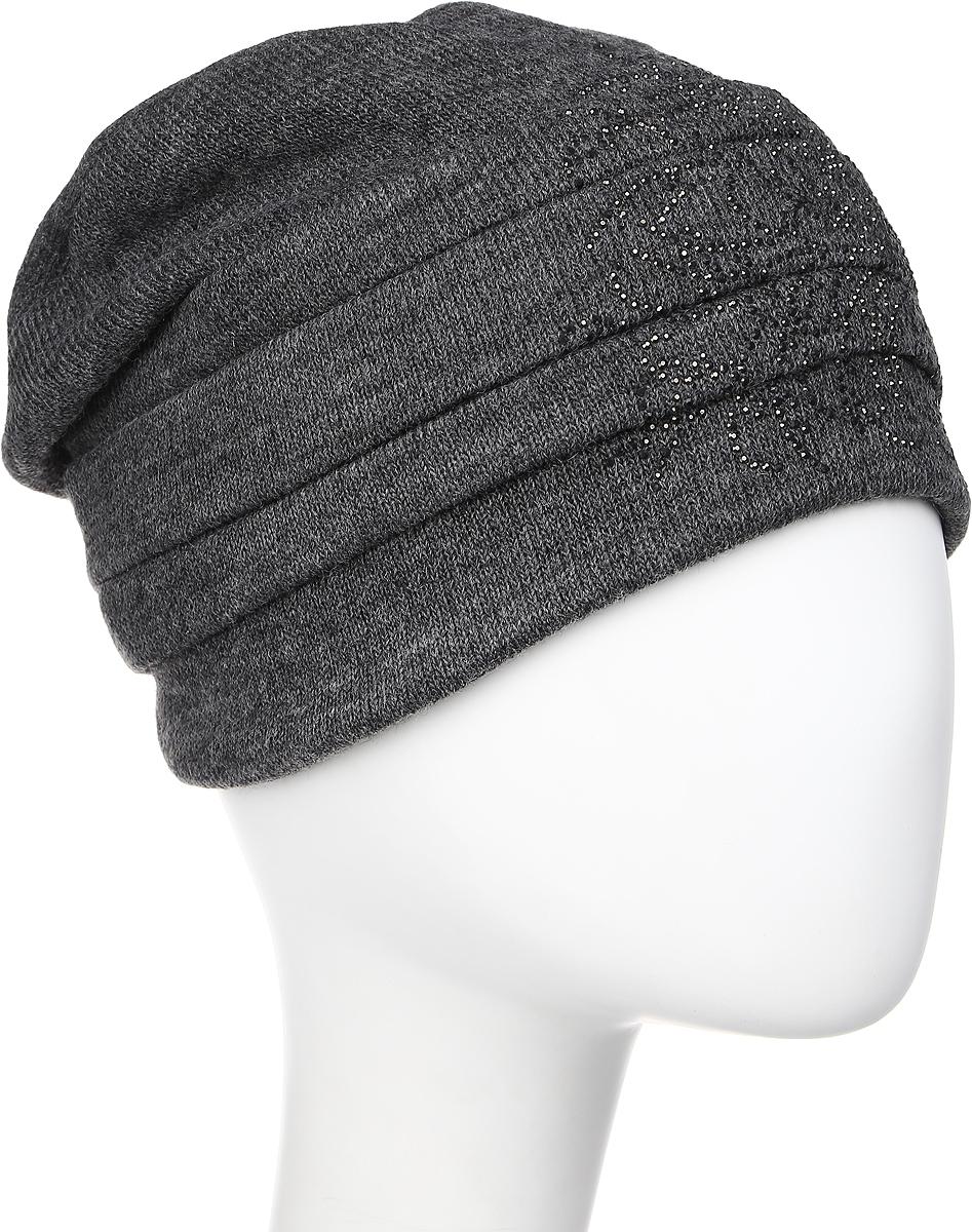 Шапка женская Level Pro Вальс 2, цвет: серый. 995932. Размер 56/58995932Яркий и стильный головной убор не только станет прекрасным дополнением Вашего образа, но и согреет в холода. Оттенок и детали изделия могут отличаться от фотографии.