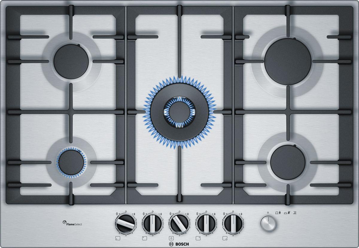 Bosch PCQ7A5M90R, Silver варочная панель встраиваемая