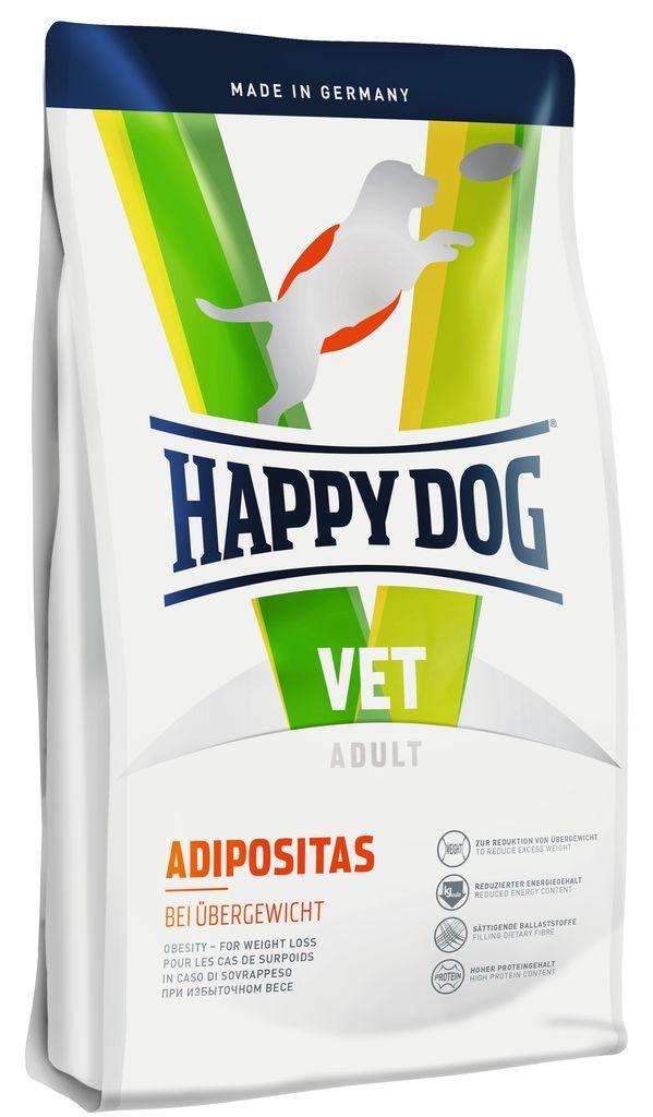 Корм сухой Happy Dog Adipositas для собак с избыточным весом, 4 кг60352Сухой корм Happy Dog Adipositasприменяется для снижения избыточного веса. Это диетический корм отличается значительно уменьшенным содержанием калорий и углеводов. Корм богат высококачественным белком и питательными балластными веществами. Особая рецептура создает оптимальные условия для бережного снижения веса. Это корм эффективно поддерживает и улучшает физическую форму собаки. Розмарин и имбирь, входящие в состав формулыNatural Life Concept,традиционно используются в качестве добавок, активирующих обмен веществ.Особенности:Сниженное содержание энергии и углеводов Повышенное количество балластных веществ для чувства насыщения Высокое содержание высококачественного протеина.