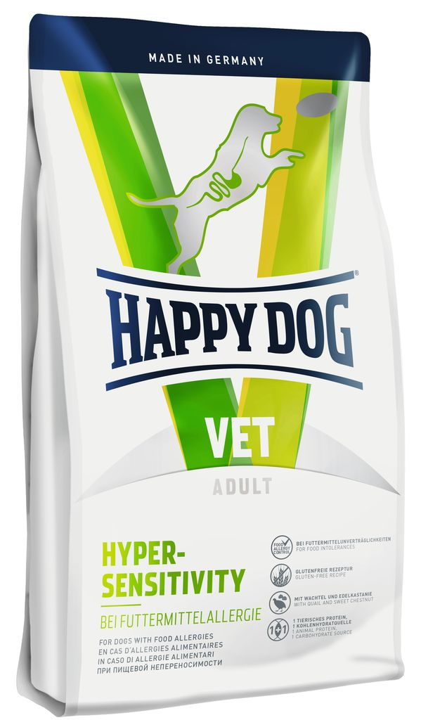 Корм сухой Happy Dog Hypersensitivity для собак с пищевой аллергией, 4 кг корм happy dog mini toscana 1kg 60325 для собак