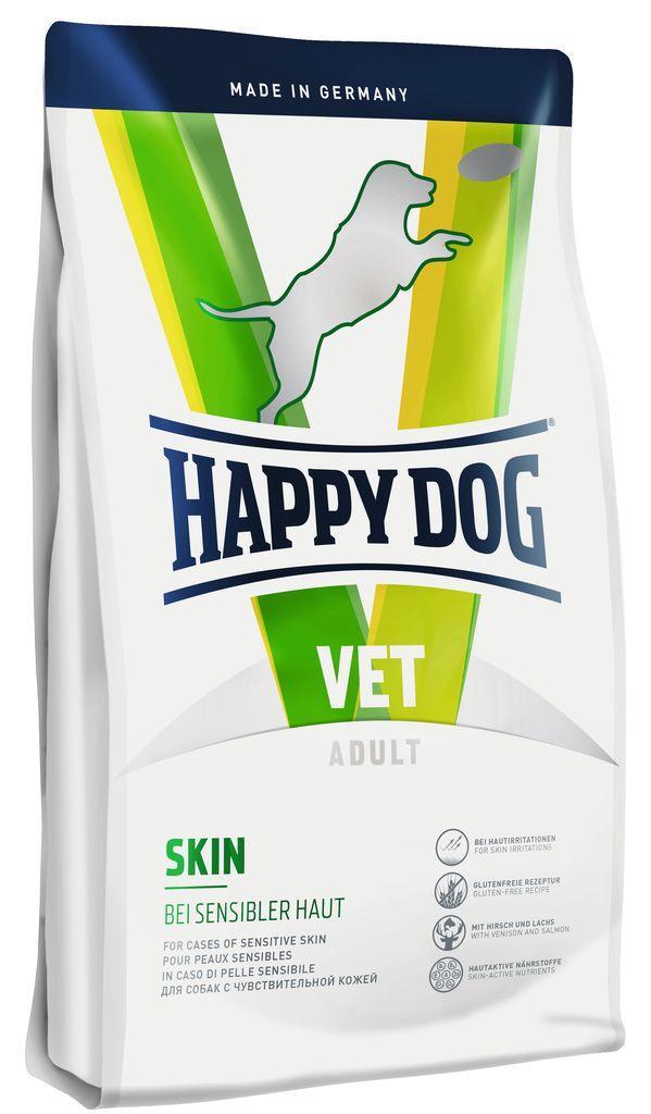Корм сухой Happy Dog Skin для собак с чувствительной кожей, 4 кг60368Сухой корм Happy Dog Skin стимулирует рост шерстяного покрова ,уменьшает внесезонную линьку,укрепляет волосяную луковицу и является Эксклюзивным источником животного протеина (оленина и лосось). В составе высокое содержание питательных веществ, необходимых для поддержания кожного обмена веществ (омега-3 и омега-6-жирные кислоты, вит. A, вит. E, биотин, ниацин и цинк) . Безглютеновая рецептураксклюзивный источник животного протеина (оленина и лосось).Высокое содержание питательных веществ, необходимых для поддержания кожного обмена веществ (омега-3 и омега-6-жирные кислоты, вит. A, вит. E, биотин, ниацин и цинк)Особенности:Легкоусвояемые ингредиентыБезглютеновая рецептураНе содержит Natural life Concept ®Рекомендованный курс: изначально до 2 месяцев. При снижении признаков непереносимости без ограниченийПоказания: Раздражение кожи и избыточная потеря шерсти вследствие дерматозов и кормовой непереносимости.Чем кормить пожилых собак: советы ветеринара. Статья OZON Гид