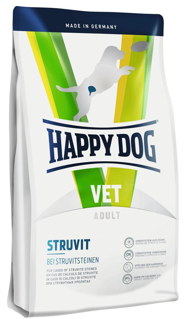 Корм сухой Happy Dog Struvit для собак, 12,5 кг60373Сухой корм Happy Dog Struvit применяется для растворения струвитных уролитов. В профилактических целях рекомендуется комбинация с полноценным кормом Happy Dog. Этот диетический корм отличается особенно высоким качеством белков, а также пониженным содержанием магния и фосфора и способствует значительному снижению уровня рН мочи. Умеренно повышение уровня натрия приводит к появлению жажды, тем самым стимулируя повышенное потребление воды и как следствие усиление диуреза. Листья березы и крапива, входящие в состав формулы Natural Life Concept, традиционно используются в качестве добавок при классическом лечении мочевыводящих путей.