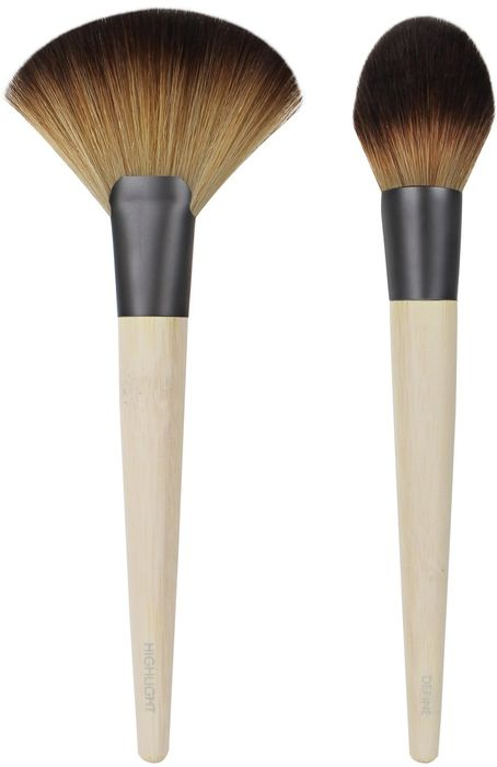EcoTools Набор кистей Define and Highlight Duo1654MВ составе набора Define and Highlight Duo: кисть для коррекции лица Define brush и кисть для хайлайтера Highlight brush.