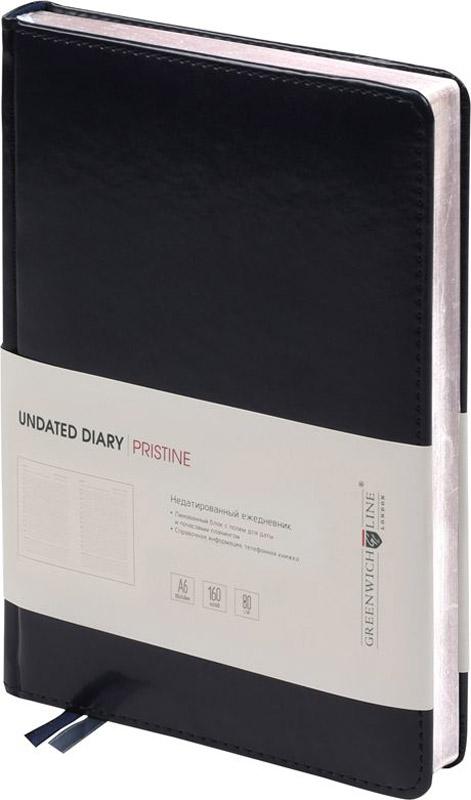 Greenwich Line Ежедневник Pristine недатированный 160 листов цвет черный формат A6 желай делай ежедневник