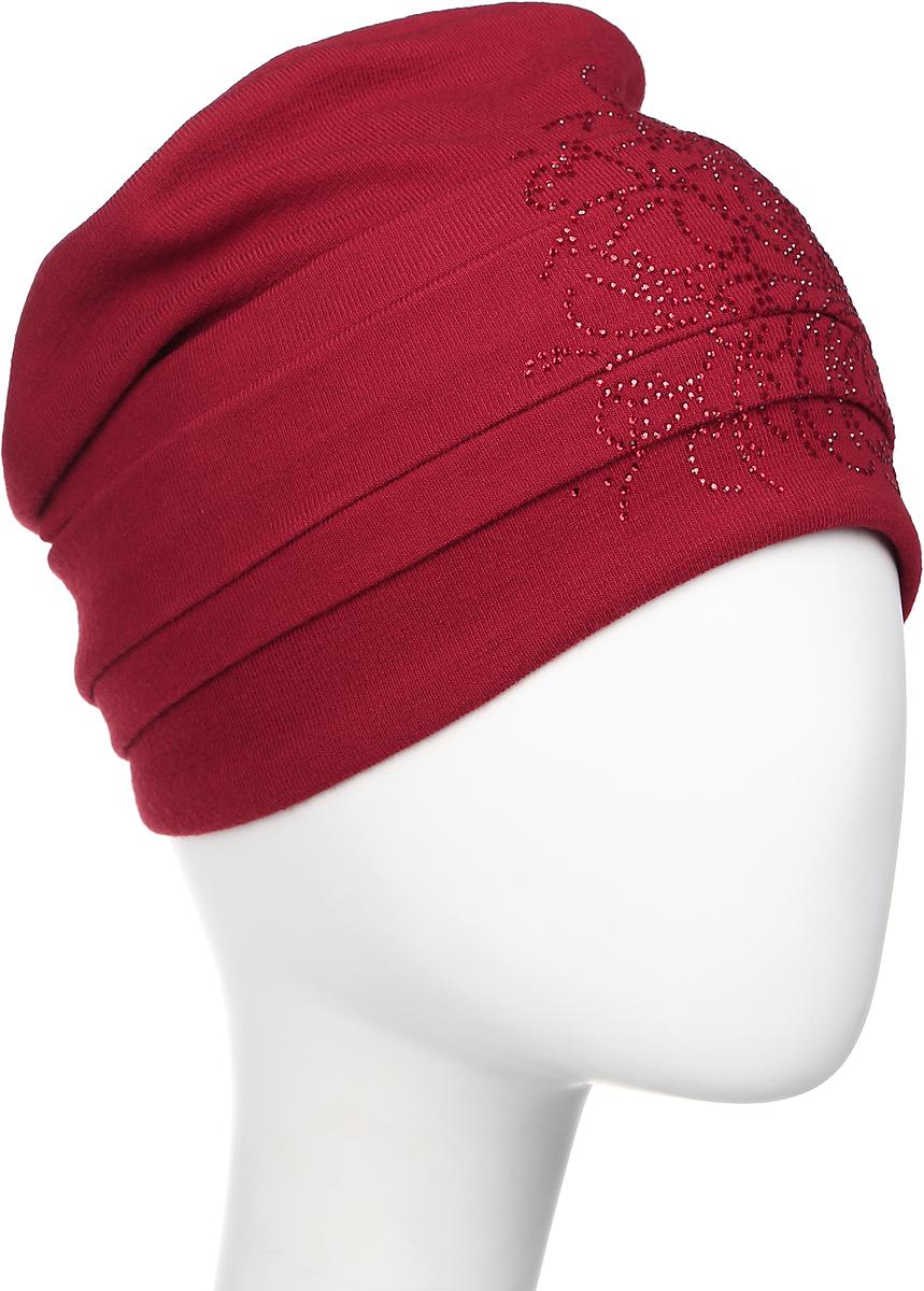 Шапка женская Level Pro Вальс 2, цвет: вишневый. 404551. Размер 56/58404551Яркий и стильный головной убор не только станет прекрасным дополнением Вашего образа, но и согреет в холода. Оттенок и детали изделия могут отличаться от фотографии.