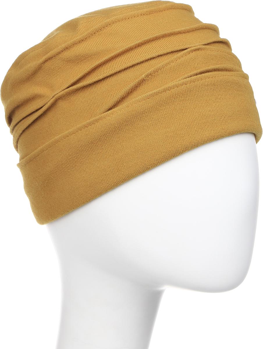 Шапка женская Level Pro, цвет: горчичный. 403617. Размер 56/58403617Яркий и стильный головной убор не только станет прекрасным дополнением Вашего образа, но и согреет в холода. Оттенок и детали изделия могут отличаться от фотографии.