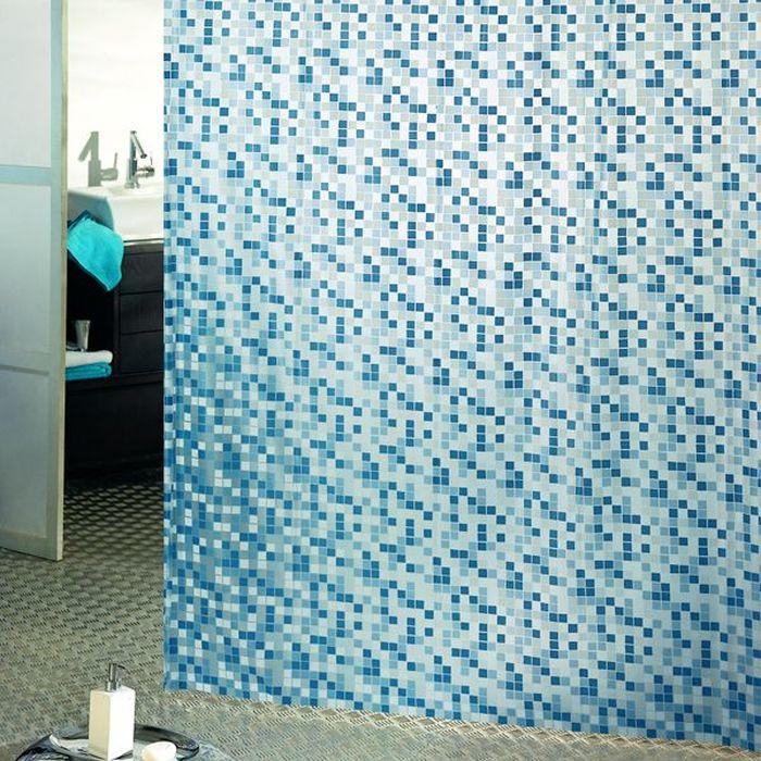 Штора для ванной Bacchetta Mosaico, цвет: синий, 180 х 200 см2028Влагонепроницаемая, надежная, долговечная и практичная штора для ванной от производителяс мировым именем Bacchetta. Выполнена штора из высококачественного ПВХ. Технологияпроизводства изделий отвечает новейшим европейским стандартам. Полотна отличаютсявысочайшими качественными характеристиками: высокими показателями износостойкости,прочности, цветостойкости и цветопередачи. Рисунок орнамента выполнен с применениемтиснения, что создает визуальное ощущение объемности рисунка, это стильно выглядит в ваннойкомнате любого размера, рисунок не создает визуального нагромождения. Штора обладаетвысокой прочностью, в комплекте предусмотрено 12 пластиковых колец. Штора со временем невыцветает, а рисунок не вымывается. Изделие легко моется и быстро сохнет.
