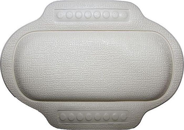 Подголовник для ванны Bacchetta, цвет: белый, 25 х 34 см2198Подголовник для ванны Bacchetta подходит для тех, кто любит понежится в ванной, кто может часы напролет проводить в царстве ароматных масел, солей и пены. Подголовник выполнен из высококачественного вспененного ПВХ с вакуумными присосками, которые обеспечивают надежную фиксацию подголовника на поверхности любой ванны или душевой кабины. Подголовник со временем не выцветает и не красится. Изделие призвано обеспечить комфортный прием ванны, а так же может использоваться для обеспечения более безопасного купания малышей, как защита от ударов.