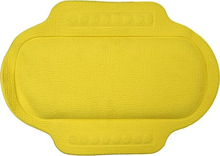 Подголовник для ванны Bacchetta, цвет: желтый, 25 х 34 см2651Это изобретение для тех, кто любит понежится в ванной, кто может часы напролет проводить в царстве ароматных масел, солей и пены. Чтобы сделать процесс приема ванны еще более приятным и комфортным Bacchetta создали для вас удобный подголовник-подушку для ванной. Подголовник выполнен из высококачественного вспененного ПВХ с вакуумными присосками, которые обеспечивают надежную фиксацию подголовника на поверхности любой ванны или душевой кабины. Подголовник со временем не выцветает и не красится. Изделие призвано обеспечить комфортный прием ванны, а также может использоваться для обеспечения более безопасного купания малышей, как защита от ударов.