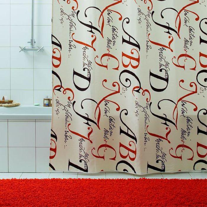 Штора для ванной Bacchetta Lettere, цвет: бежевый, 180 х 200 см3024Текстильная штора для ванной в стильном дизайне от производителя с мировым именем Bacchetta. Выполнена штора из высококачественного полиэстера с водоотталкивающей и антибактериальной пропиткой, которая препятствует появлению на шторе плесени и других вредных грибков. Штора оснащена утяжелителем, который вшит по нижнему краю, и не позволяет шторе подниматься от потоков воздуха, создаваемых напором воды. Верхний край шторы усилен двойным подворотом ткани, люверсы для колец выполнены из пластика, это исключает появление ржавчины в помещение с повышенной влажностью, что часто встречается при использовании металлических деталей. Технология производства изделий отвечает новейшим европейским стандартам. Полотна отличаются высочайшими качественными характеристиками: высокими показателями износостойкости, цветостойкости и цветопередачи, прочности ткани на разрыв. Штора со временем не выцветает, а рисунок не вымывается. В комплекте со шторой предусмотрено 12 пластиковых колец. Допускается деликатная стирка при температуре не более 30 С, штора быстро сохнет.
