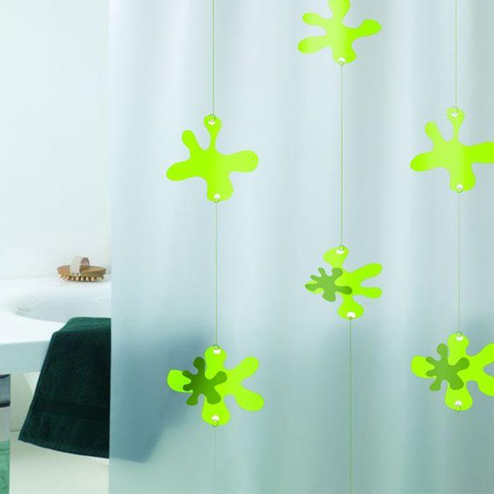 Штора для ванной Bacchetta Spot, 180 х 200 см3508Штора для ванной Bacchetta Spot - это влагонепроницаемая, надежная, долговечная и практичная штора. Штора выполнена из высококачественного ПВХ. Полотна отличаются высочайшими качественными характеристиками: высокими показателями износостойкости, прочности, цветостойкости и цветопередачи. Печатный рисунок на прозрачном матовом фоне визуально не нагромождает пространство небольшой ванной комнаты. Штора обладает высокой прочностью, со временем не выцветает, а рисунок не вымывается. Изделие легко моется и быстро сохнет. В комплекте предусмотрено 12 пластиковых колец.